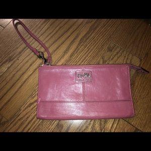 Pink Coach wallet/wristlet